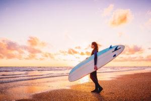 Women surfer